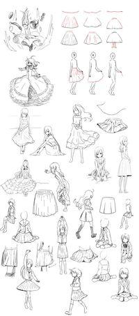 【シワ・流れ】スカートを理解していく | 萌えイラストを描きたい!!ぷらす