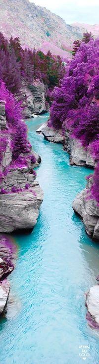 Fairy River Shotover River, New Zealand | LOLO❤︎                                                                                                                                                                                 More