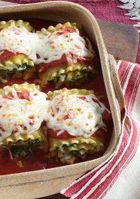 Spinach Lasagna Rolls Receta