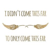 """""""I didn't come this far, to come only this far."""" ..*"""
