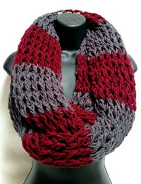 The Gentleman's Crochet Infinity Scarf Gray and by Africancrab, $30.00
