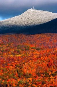 Killington Mountain, Vermont.  Been on top of this mountain in Winter and skied down!  What an adventure!!!