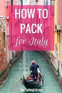 Ultimate Female Travel Packing List for Italy - Her Packing List