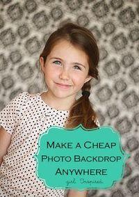 Make a Photo Backdrop Anywhere! - girl. Inspired.
