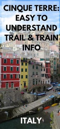 If you are planning on walking the Cinque Terre trails, here's some great information to get you started.  Trains and Trail pass information.