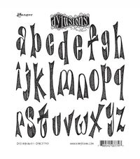 Dyan Reaveley's Dylusions Cling Stamp Collection-Dy's Alphabet, , hi-res - cool font
