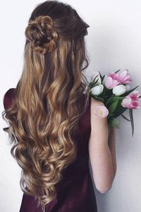 Romantic Updo with Curls on @oleksa.z <3 Sasha is wearing Dirty Blonde…                                                                                                                                                                                 More