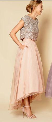Two Piece Shining Prom Dress Women ..