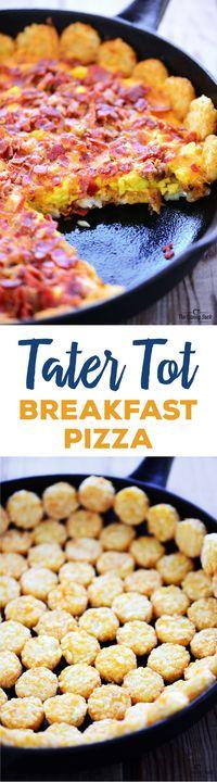 Tater Tot Breakfast Pizza - The Gunny Sack