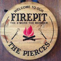S'mores version of the firepit sign. Get on Etsy!