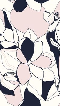 Bold abstract floral pattern design ideas and inspiration. Love this graphic flower print. Navy blue, pale pink and white, yes!