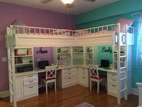 Custom Made Dual Loft Beds With Desks