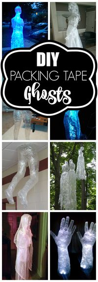 10 Packing Tape Ghost Ideas via Pretty My Party
