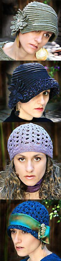 Classic Crochet Cloches on StitchDiva.com