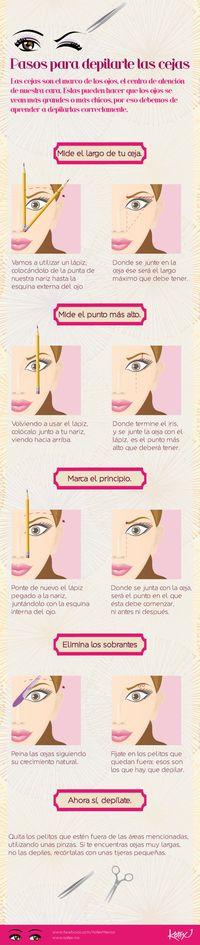 cómo depilar tus cejas perfectamente