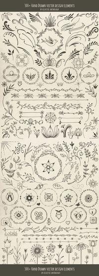 Hand Drawn Vector Design Elements                                                                                                                                                                                 Más
