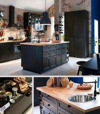 Îlot central cuisine Metod IKEA avec évier intégré  http://www.homelisty.com/ilot-central-cuisine/
