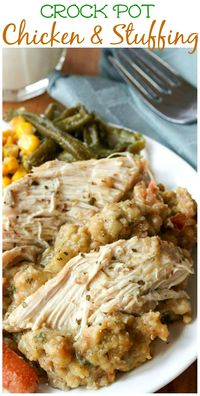 Crock Pot Chicken and Stuffing - The Cozy Cook