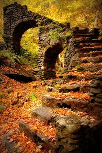 Outdoor Sanctuaries - this is just gorgeous - the stone arches, the foliage.  What did this used to be? It reminds me of a scene from the Drew Barrymore movie Ever After where she and the Prince (DougRay Scott) meet. I can picture a wedding here.