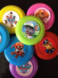 12 Paw Patrol Mini Flying Disks Frisbee Birthday Party Favors Gifts