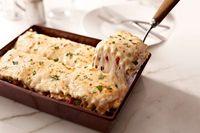 Cremosa lasaña de pollo y alcachofas Receta