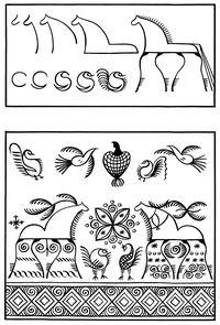 Трафареты мезенской росписи