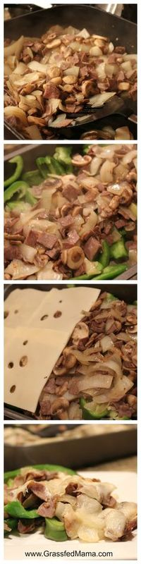 Low Carb Philly Cheesesteak Casserole - Grassfed Mama