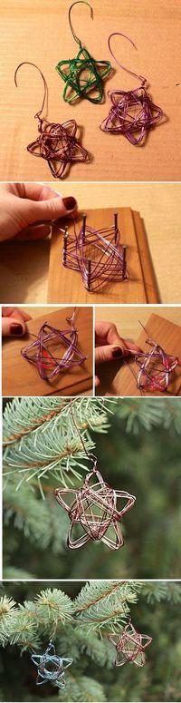 Handmade Star Wire Ornament - Alyssa and Carla