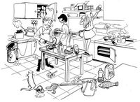 Go Back Gallery For Kitchen Safety Coloring Pages