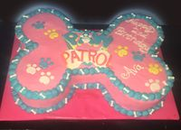 Girly Paw Patrol cake