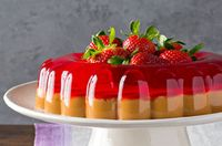 Postre de gelatina de fresa y dulce de leche Receta - Comida Kraft
