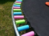 pool noodles on a trampoline!