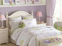 Green and Purple Girl's Bedroom
