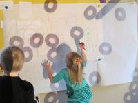 I have an on-going obsession with light panels, projectors, and using light in the preschool classroom.  We have a projector and a light panel in our home preschool, and this board is my inspiration for those invitations to learn and play.  Reggio Emilia is also a big part of my foundation, and thus the inspiration behind this board!
