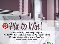 FrogTape Shape Tape Pin to Win Sweepstakes