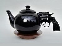Why does the stately teapot drift toward whimsy?