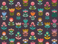 Flower based textile prints and designs.