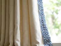 Images of drapery and window treatment ideas, including trims, fabrics, styles, and innovative designs. Curated by Kristine Robinson of Robinson Interiors     http://robinsoninteriors.wordpress.com/