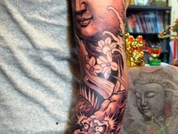 Some of the finest examples of Buddhist/Hindu inspired Tattoo's that can be found globally. Let this serve as an inspiration for your ideas and Ink.