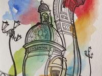 Sketching / Ink / Watercolor