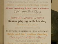 wedding MUSTS!!