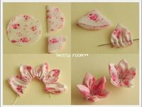 D.I.Y fabric flowers
