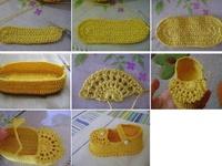 sapatos de crochet etricot