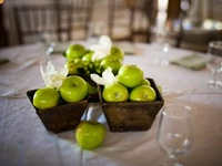 ideas for wedding centerpieces..... still have to see if Rud even likes the idea of using apples for our green.