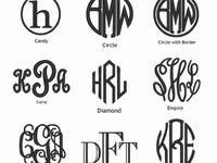 Free Fonts and Monograms