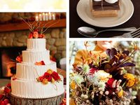 Love the look and feel of a fall wedding, Enjoy.