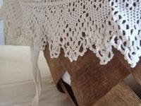 Burlap linen lace