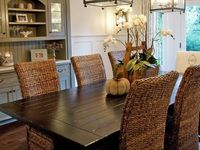 Dining Room Area ideas - grey painted hutch