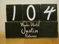 Different ways to countdown the return of your missionary.