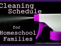 Chore chart/cleaning homeschool